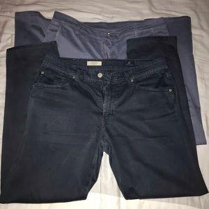 2 pair AG Pants (Waist 32)